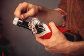 香槟为新的一年 — 图库照片