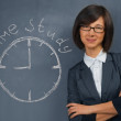 Woman says time study — Stock Photo