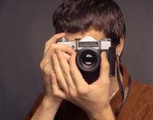 Joven fotógrafo — Foto de Stock