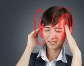 Concept of headache — Stock Photo