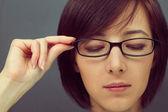 眼镜的女人 — 图库照片