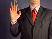 Dependency businessman — Stock Photo