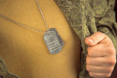 Breast of military man  — Stock Photo