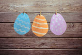 Easter figured paper eggs — Stock Photo