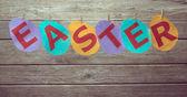 Testo colorato pasqua — Foto Stock