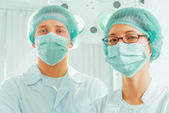 Man surgeon and nurse — Stock Photo