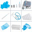 Collage of medical objects — Stock Photo