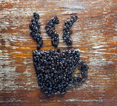 Coffee beans in the shape of cup — Foto de Stock