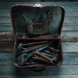 Working tools in suitcase — Stock Photo #46209085
