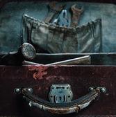 Vecchi strumenti nel caso — Foto Stock
