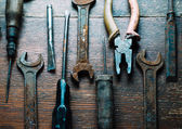 Set of old tools — Stock Photo