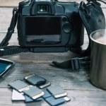 Equipment of photographer — Stock Photo #46598529