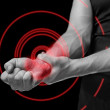 Pain in a male wrist — Stock Photo #47620449