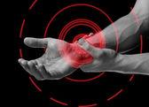 Pain in wrist area — Stock Photo