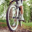 Man is bicycling — Stock Photo