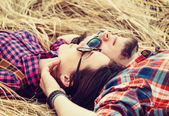 Young couple in love rests — Stock Photo