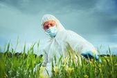 Scientist on nature — Stock Photo