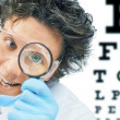 Funny doctor optometrist — Stock Photo #49628167