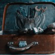 Old working tools in suitcase — Stock Photo
