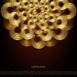 Golden circular pattern — Stockvector #30619995