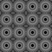 Padrão sem emenda de lacy em preto e branco — Vetor de Stock