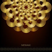 Golden circular pattern — Stockvector