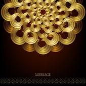 金色圆形图案 — 图库矢量图片