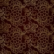 Stok Vektör: Golden seamless pattern with swirls