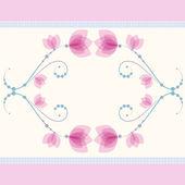 Confine senza soluzione di continuità con delicati fiori rosa — Vettoriale Stock