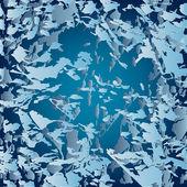 松开了的冰碎片与抽象矢量背景 — 图库矢量图片