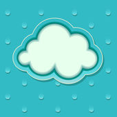Blue background with rain drops and the cloud. Icons for weather — Stock Vector