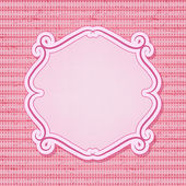 Pink frame on seamless checkered background — Stock Vector