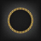 黑色背景上的金色复古框架 — 图库矢量图片
