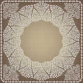 White Openwork frame. The idea for a wedding invitation. — Stock Vector