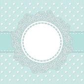 Кадр на светло голубой полосатый фон — Cтоковый вектор