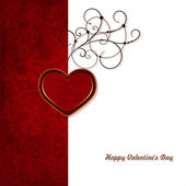 Greeting Card Valentine's Day — Stock Vector