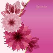 свадьбу с розовыми цветами — Cтоковый вектор