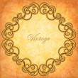 Ornate frame on the vintage background — Stock Vector