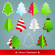 Set of Christmas fir trees — Stock vektor