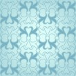 Blue seamless pattern with floral ornaments — Stock Vector
