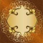 Golden floral frame — Stock Vector #30951659