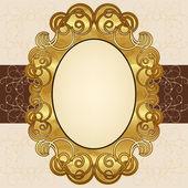 華やかなゴールド フレーム — ストックベクタ