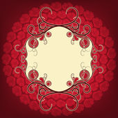 Frame with roses — Stock Vector