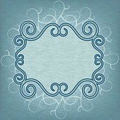 Openwork blue frame — Stock Vector
