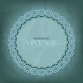 Openwork frame on vintage background — Stock Vector