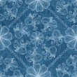 Openwork white and blue seamless pattern — Stock Vector