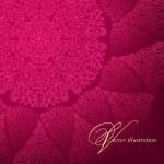 Openwork circular pattern on a burgundy background. — Stock Vector