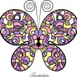 Lace colorful butterfly. — Stock Vector