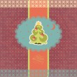 Vintage card with Christmas tree.  — 图库矢量图片