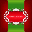 Classical Christmas card. — Stock Vector